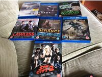 Collection of 7 Blu ray films