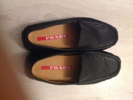 Black casual slip on shoes size 7