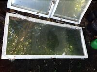 Big glass and wood window perfect for shed or green house