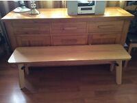 Oak Indoor Bench