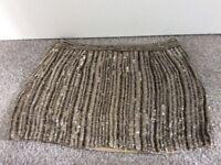 Skirt - gold sequinned mini skirt