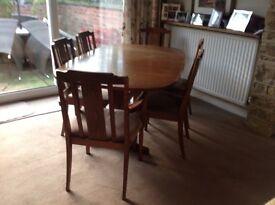 G Plan elm extending Dining room table
