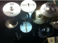 range of mint/used/broke cymbs - Meinl mb20 , Zildjan Z, Meinl MCS, Stagg, various others