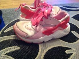 Pink girls Hurrache trainers size 12 £5