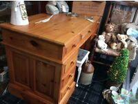 Big Solid Pine Pedestol Desk