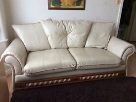 SOLD SOLD SOLD SOLD Cream Leather 2 & 3 Seater Sofas