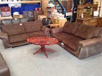 Brown 3 seater sofas