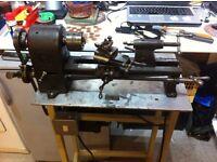 Metal Lathe on stand portable adjustable motor auto feed Model Maker Engineer Hayle Cornwall