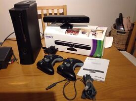 XBOX 360 120gb WITH KINECT