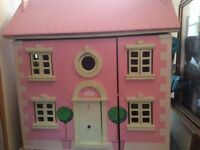 Pink 'Le Toy Van' dolls house in fabulous condition