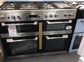 Leisure stainless steel cuisine master 110cm dual fuel range rrp £1200