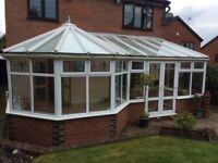 Large UPVC Conservatory with blinds for sale