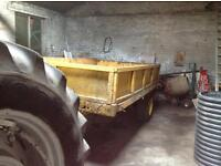 Solid tractor tipping trailer 4mm steel plated floor and sides