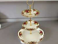 "Royal Albert ""Old Country Roses"" 3 Tier Cake Stand."
