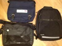 Collection of 3 Men's bags - Rucksack (backpack) & Messenger (shoulder) bags TED BAKER