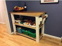 New solid pine hardwood kitchen island sideboard table butcher block veg shoe rack made to measure