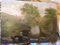 Antique signed oil painting JB McArthur 1890