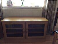Beautiful light solid oak tv cabinet