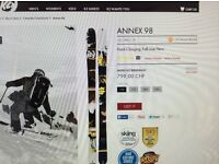 K2 Annex 98 Size 184. Probably one of the best skis on the market.