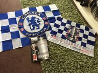 New Chelsea v Everton FA Cup 2009 Programme plus 2 Chelsea Flags