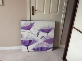 Lilac Coloured Flower Canvas Picture