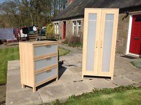Ikea wardrobe and matching drawers