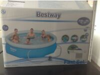 Best way Fastset 10 ft pool with filter New