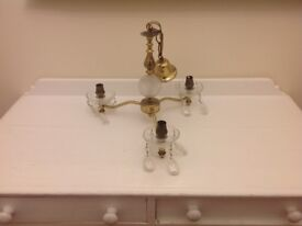 Antique Chandlier with glass droppers