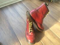 Original Cherry Red Dr Martens Boots size 8