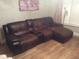 Sofology Rimini Sofa - Brown 4 piece sofa (with additional corner section if required)