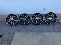 """BMW m performance alloy wheels 18"""" 5x120 for sale like new"""