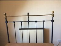 Victorian large single brass/ iron bed