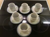 Polish Coffee Set of Cups and Saucers