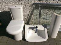 Wash hand basin plus wc unit
