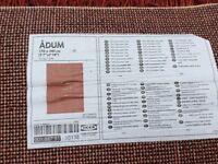 Ikea Axum dark red rug