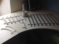 Set 18 kitchen door handles ikea long silver