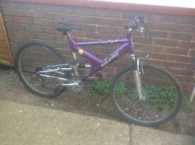 Adults Raleigh Dual Suspension MTB 18 sp
