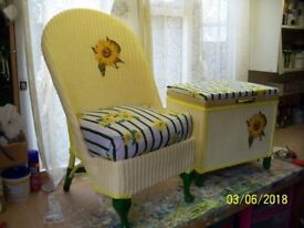 Bedroom Chair & Matching Ottaman, upcycled project