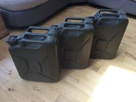 Military Jerry cans x3