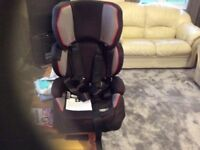 Pampero car seat,full harness,straps to seat in car, adjustable straps and head rest. Good condition