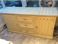 Shabby chic, country kitchen style dresser, sideboard, cabinet