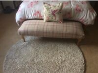 Hand made Seat/ bench upholstered in Laura Ashley Keynes
