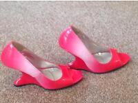 Size 4 peep toe heels new