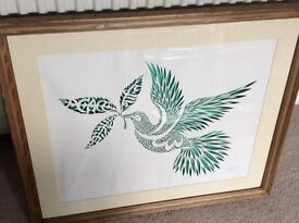 Original, signed art work, hand cut silhouette. NOW REDUCED