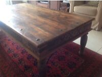 Indian teak coffee table- hand carved