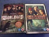 2 pirates of the Caribbean special edition DVDs