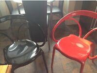 2 x trendy kitchen chairs