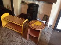 Table and bench/ shelf