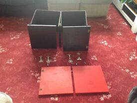 2 x Ikea Expedit black inserts and doors