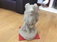 Concrete garden rough collie ornament